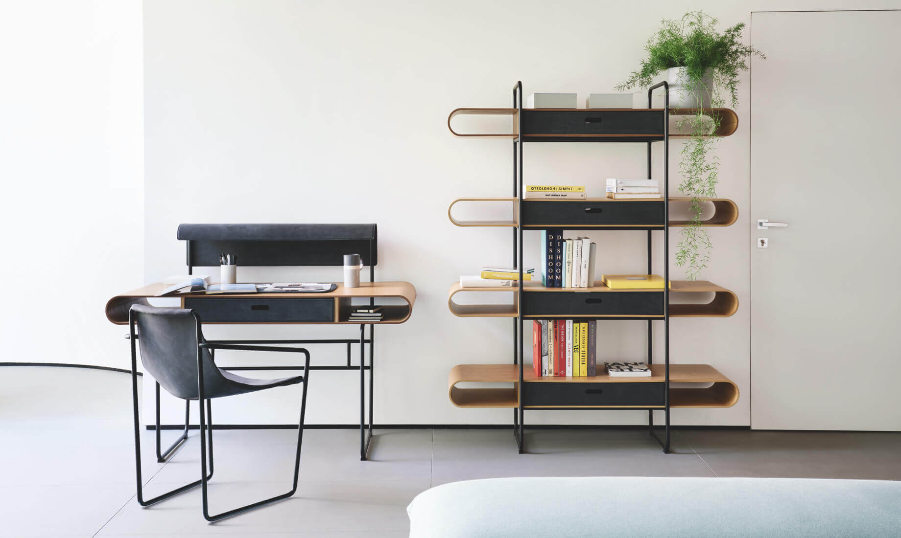 Apelle scrivania, sedia e libreria - Midj