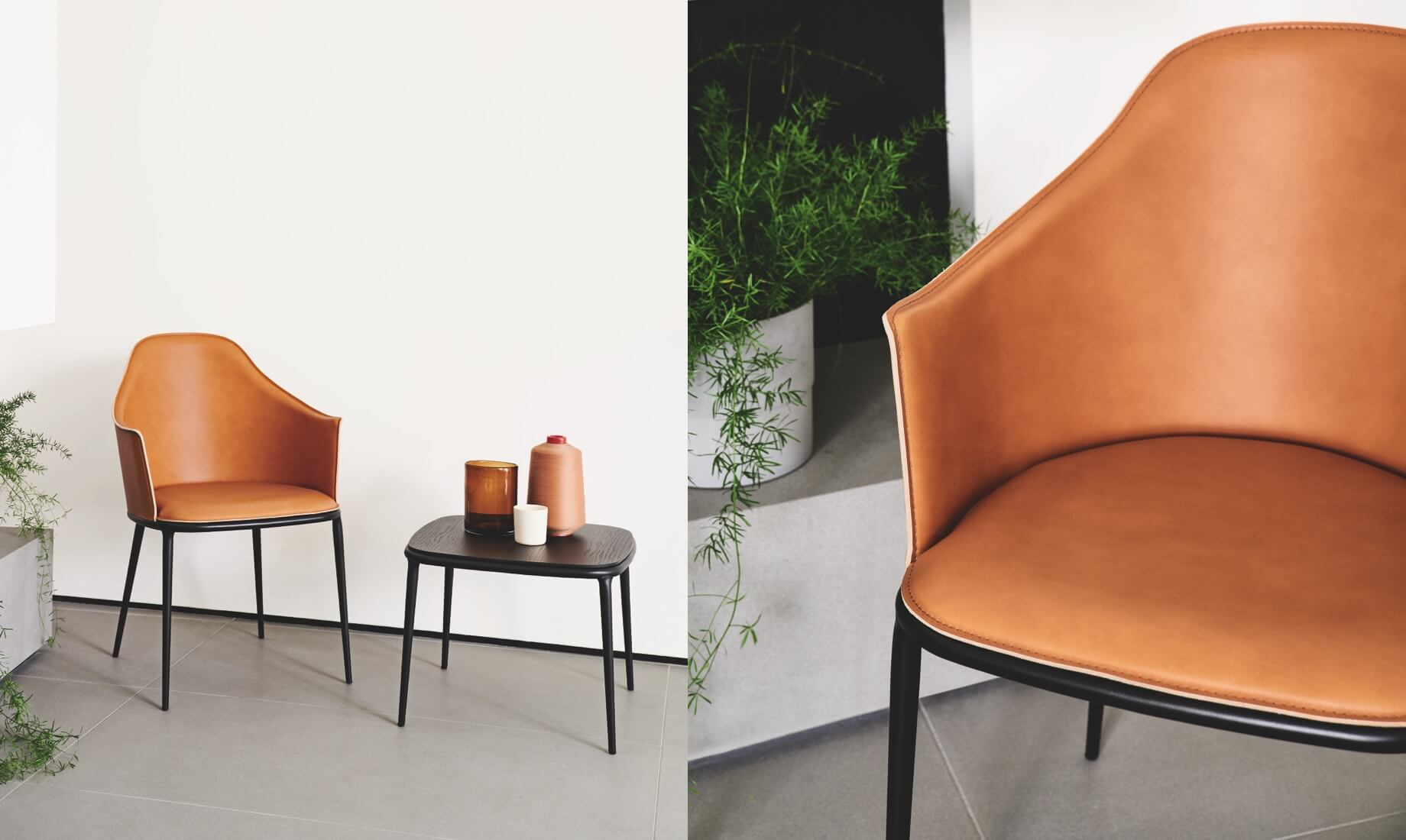 Midj - Leather armchair Lea collection