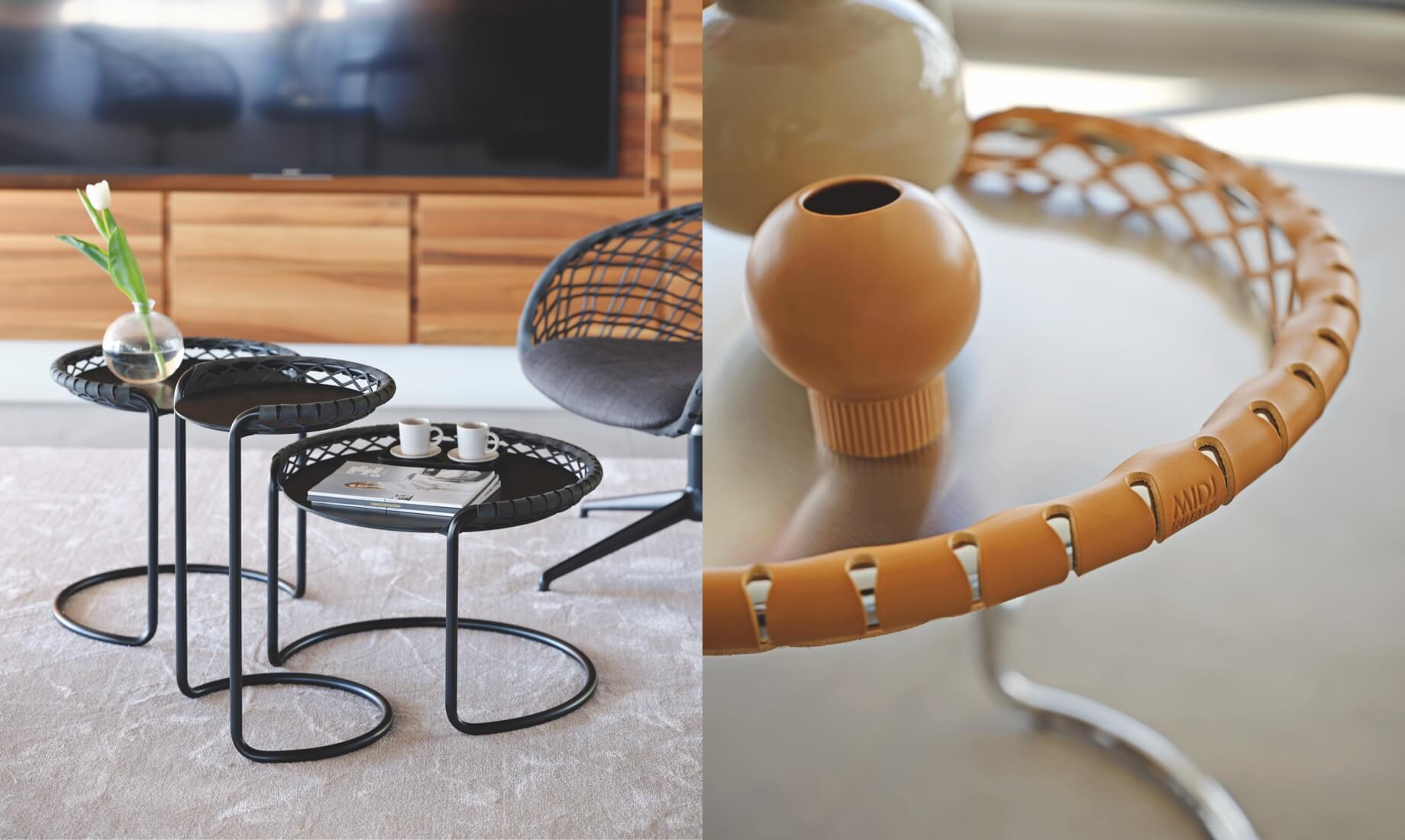 Coffee table P47, design Franco Poli.