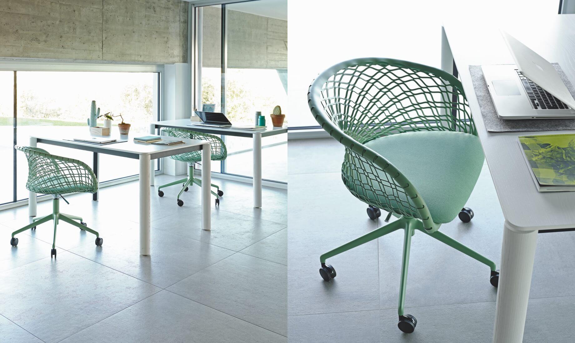 Sedia da scrivania P47, design Franco Poli.