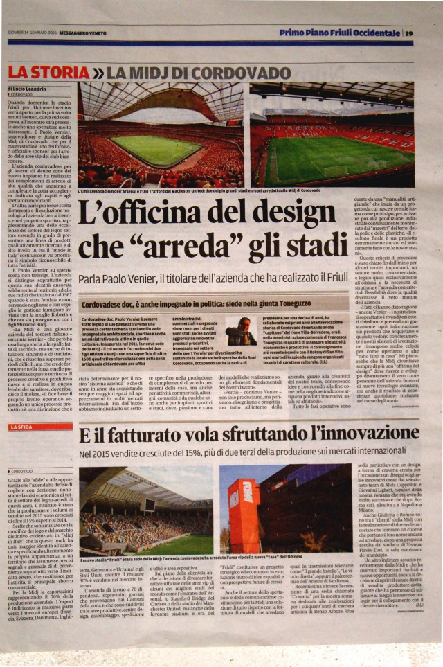 Il Messaggero Veneto racconta Midj