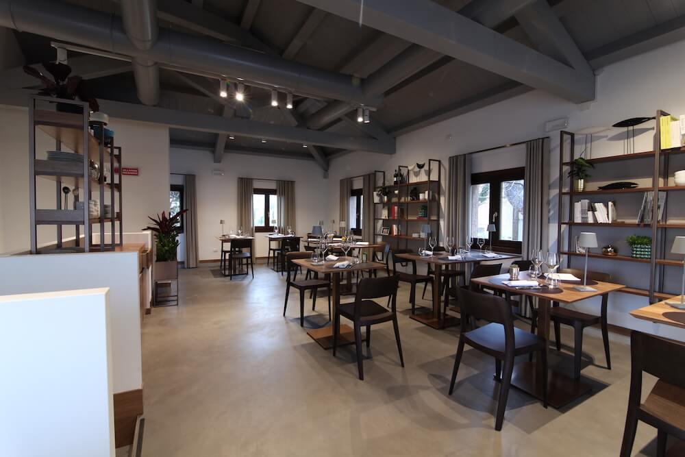 Internal room of the San Giorgio café in Venice