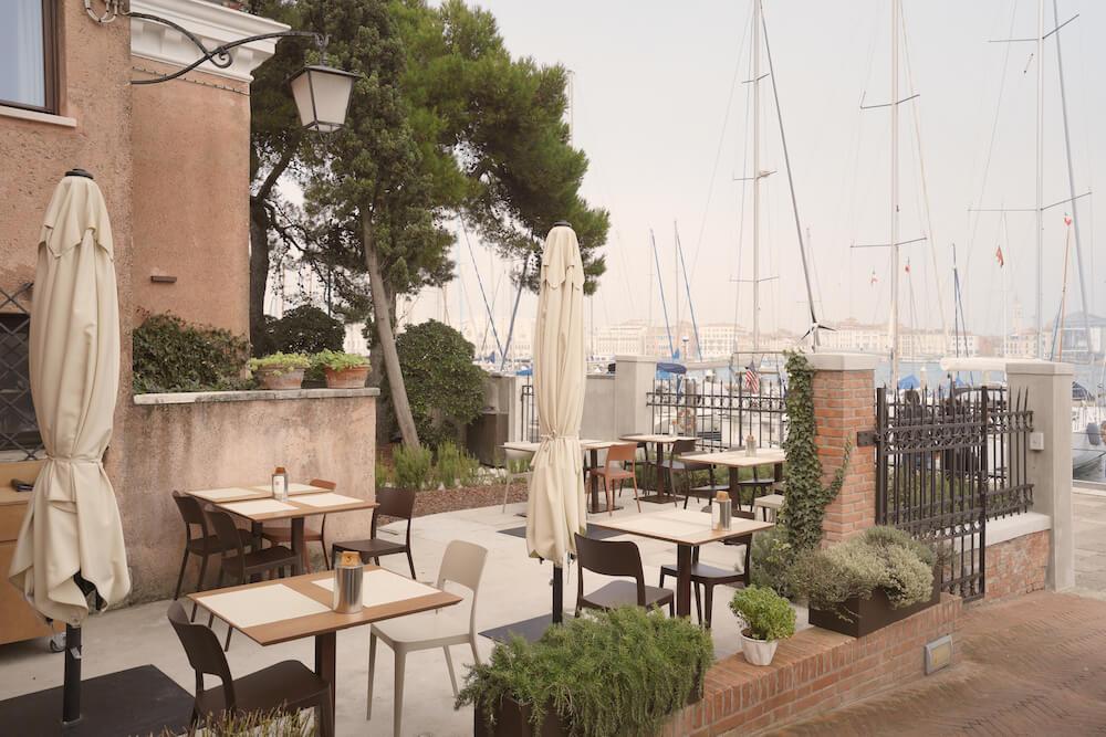 Nenè chair at San Giorgio Café patio in Venice