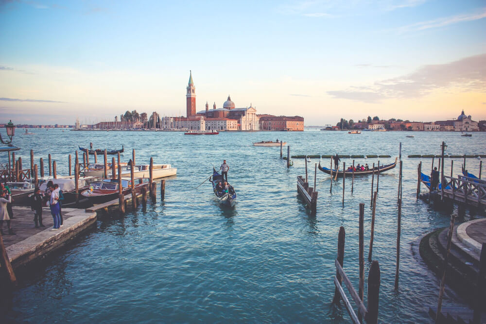 View of the Venice lagoon