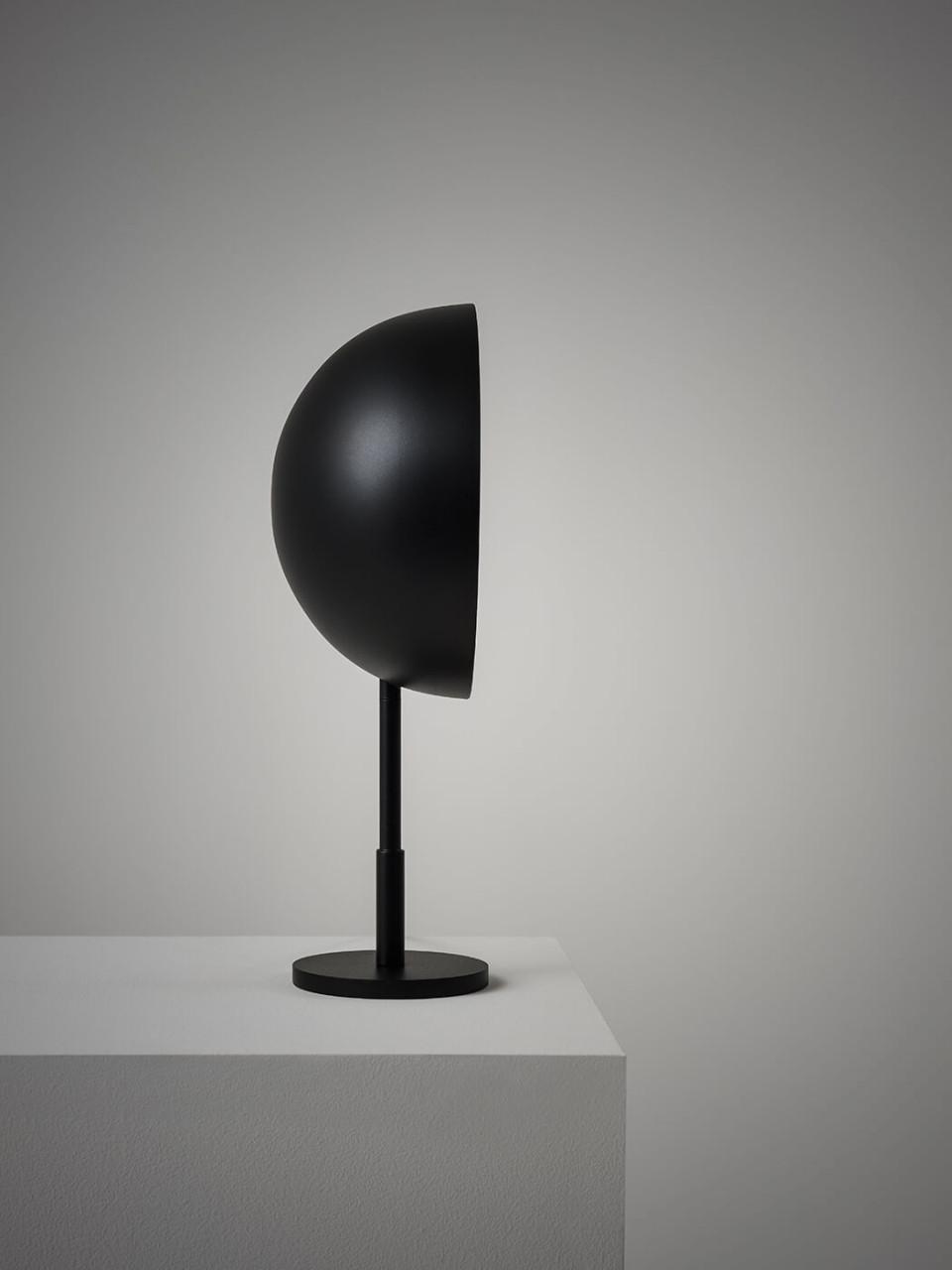 Charlotte table lamp in black steel