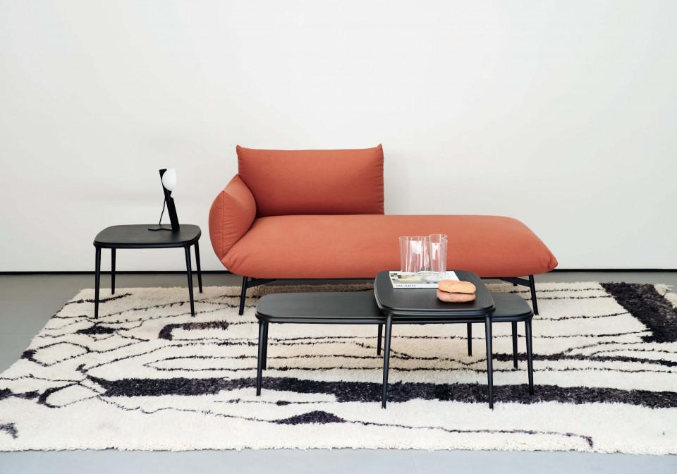 Coffee table Lea in tutte le misure disponibili con piano in legno nero