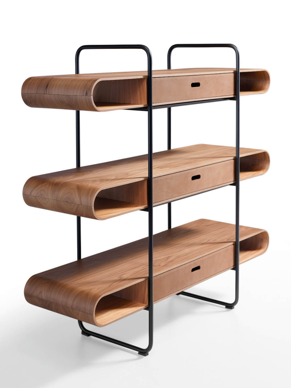 Apelle bookcase with three shelves