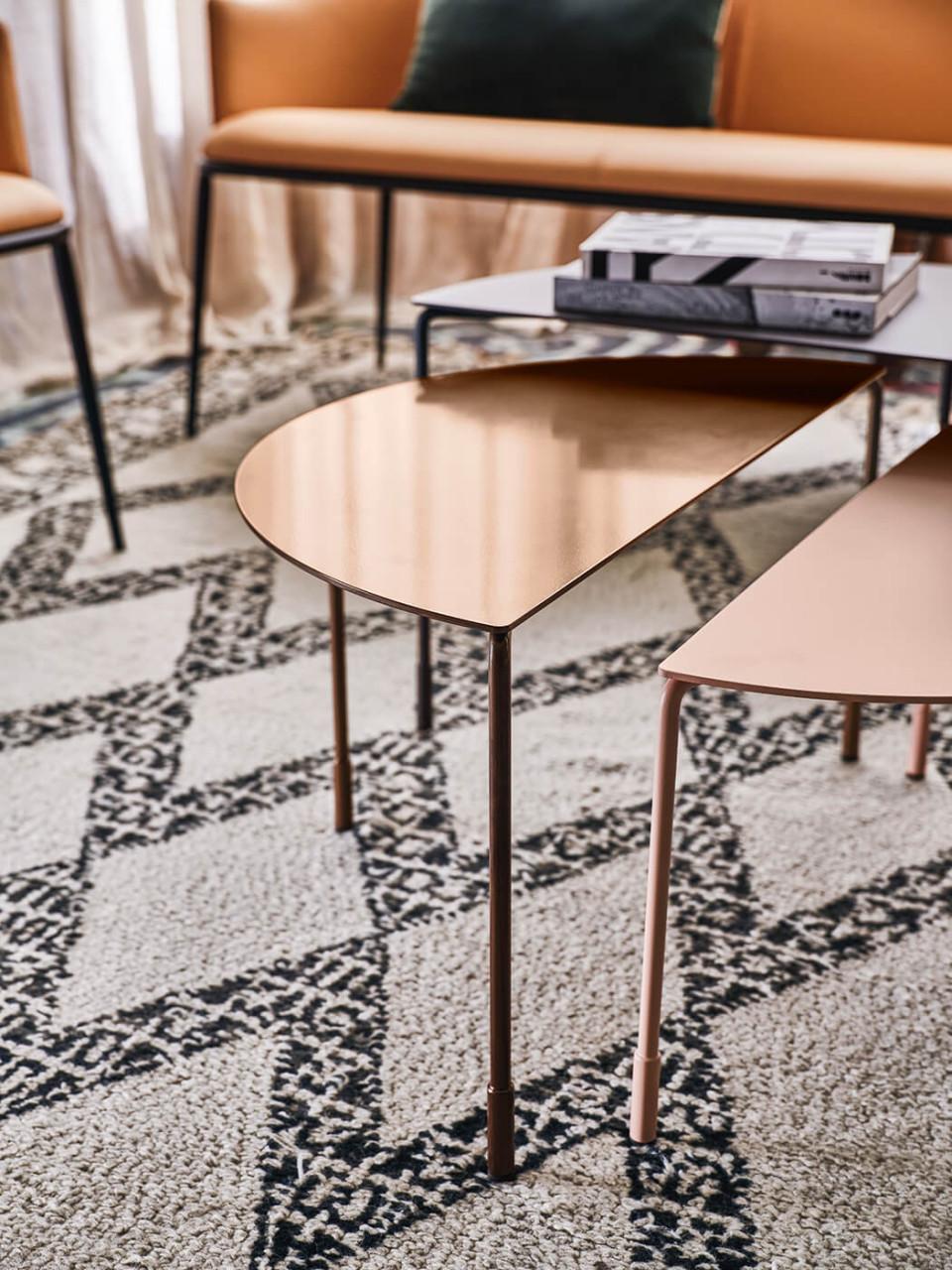 Detail of Hoodi coffe tables
