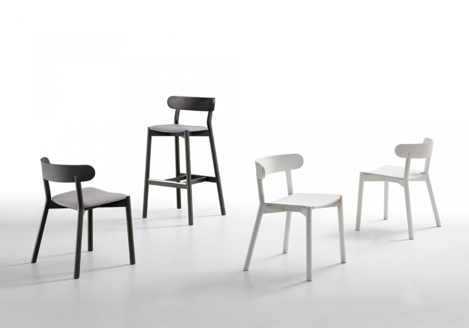 Chaise Montera entièrement en bois blanc