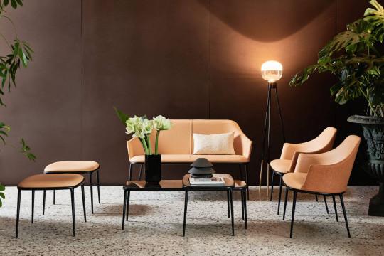 Coffee table Lea con piano effetto marmo