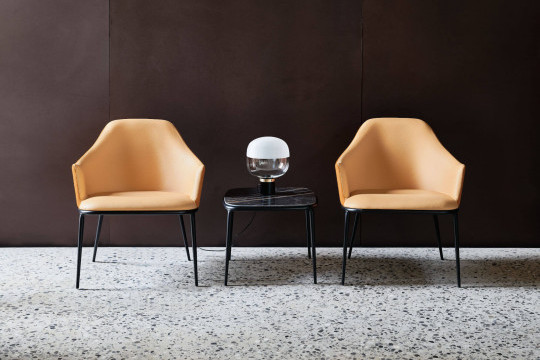 Lea coffee table with Lea lounges