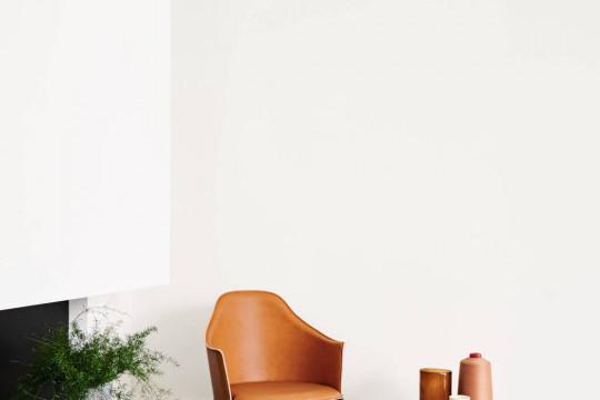 Coffee table Lea con piano in legno nero