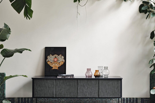Black wooden Lea sideboard