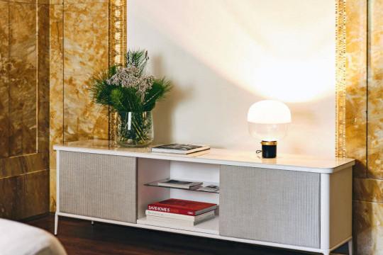 Lea mobile contenitore in legno bianco