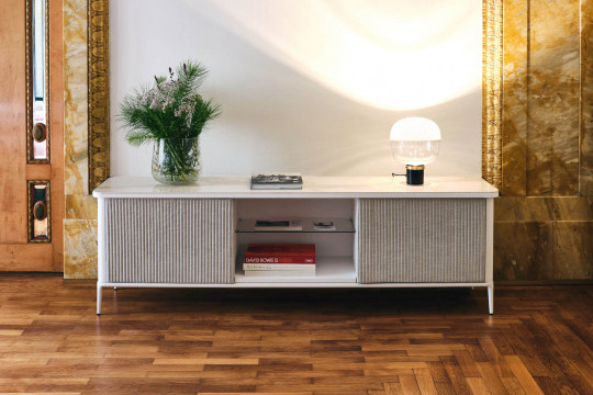 Lea sideboard with height 55 cm in white wood