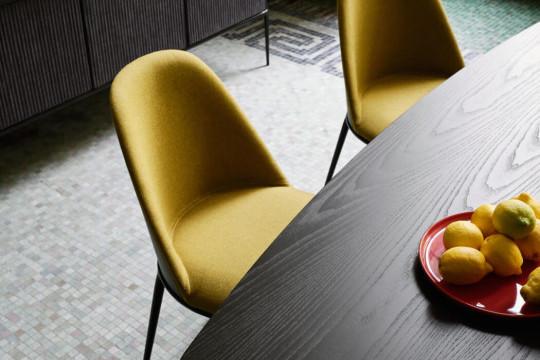 Plateau en bois noir de la table Lea