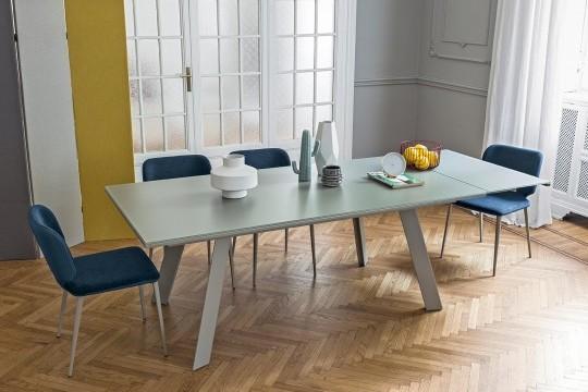 Table extensible en verre Midj