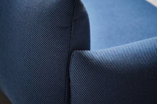 Detail of Area sofa in blue fabric