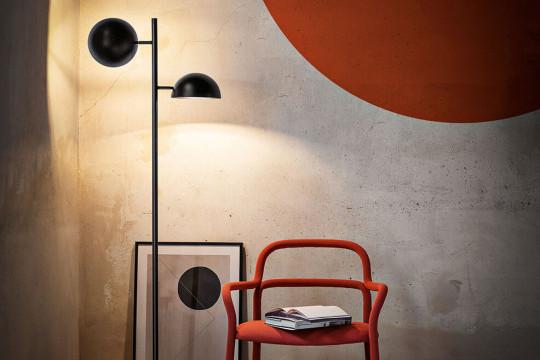 Charlotte floor lamp in black steel