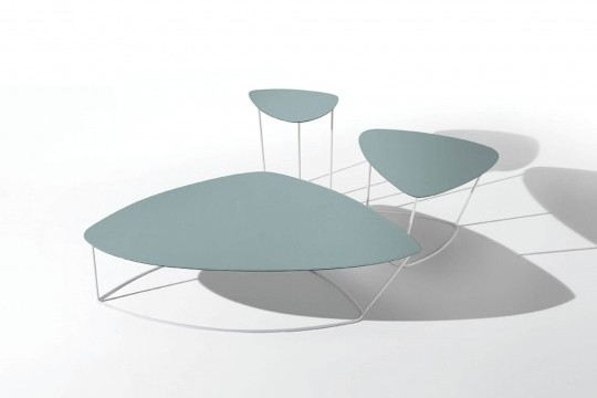Complete collection of Guapa coffee tables in large, medium and small sizes