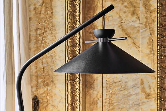 Floor lamp Japan in black steel