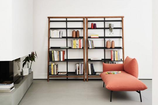 Bibliothèque Suit en bois et metal