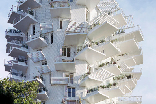 The L'Arbre Blanc building in Montpellier