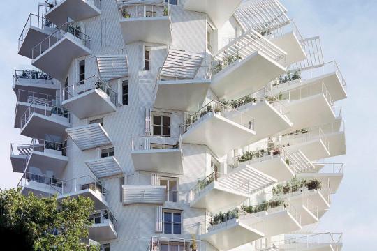 L'edificio L'Arbre Blanc di Montpellier