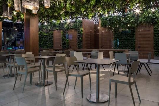 Chaises en plastique Nenè dans le café du campus de l'Académie DTEK