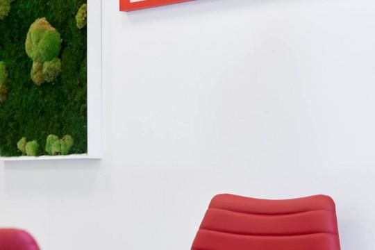 Particulier de la chaise d'attente Cover en similicuir rouge