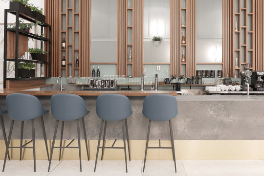 Sonny barstools at Palate Kitchen, Vancouver, Canada