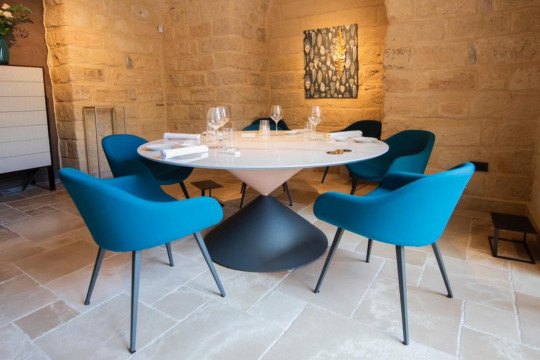 chairs sonny collection and clessidra table by midj at quintessenza restaurant  trani