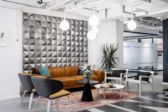 Wrap lounge chairs at Rooms co-working