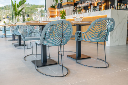 Suculenta Port de Sóller restaurant with chairs and armchais guapa by midj